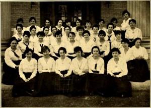 Members of the Glee Club in 1917