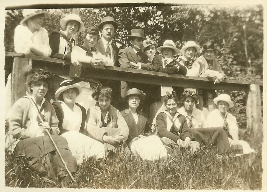 Faculty and Students, c. 1915.