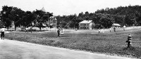 Kite flying on Normal School Grounds, c. 1910