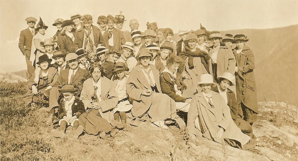 Normal School Students and Faculty on a Class Trip, c. 1915.