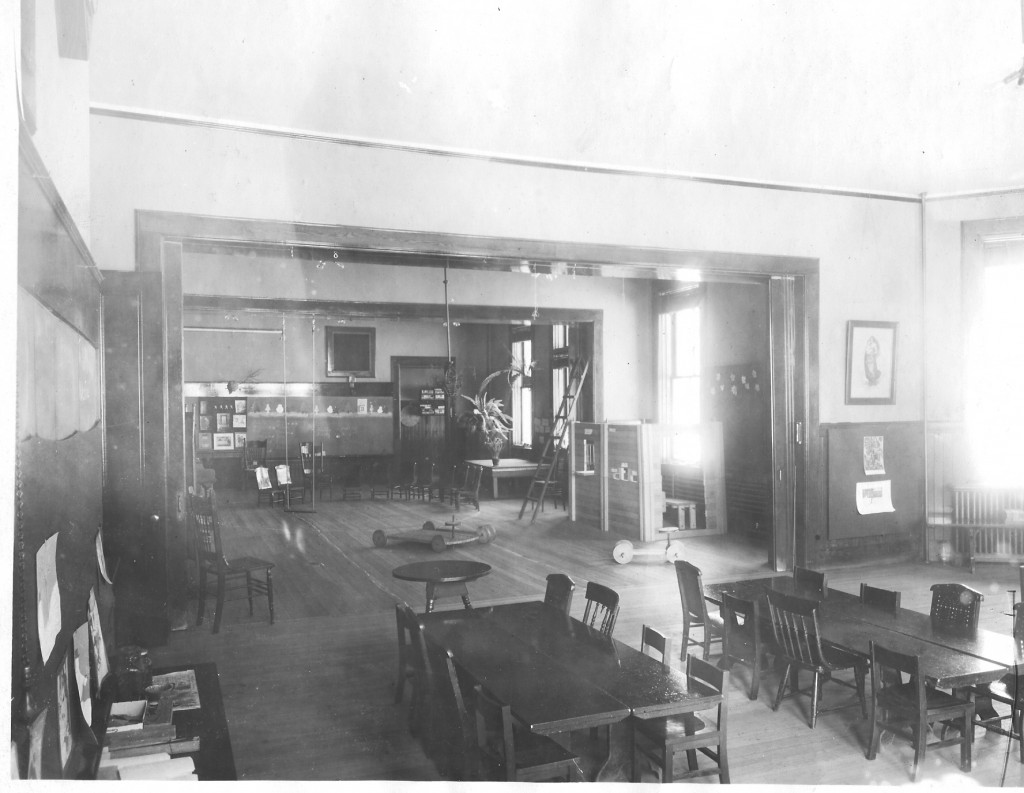 Inside the Mark Hopkins Training School, c. 1905.