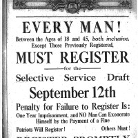 Registration Reminder, August 28, 1918.