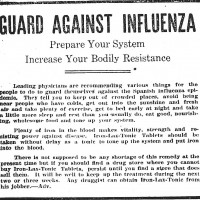 An advertisement for a preventive product, October 1918.