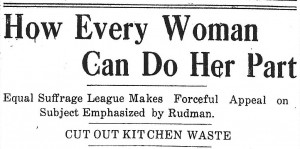 How Every Woman Can Do Her Part