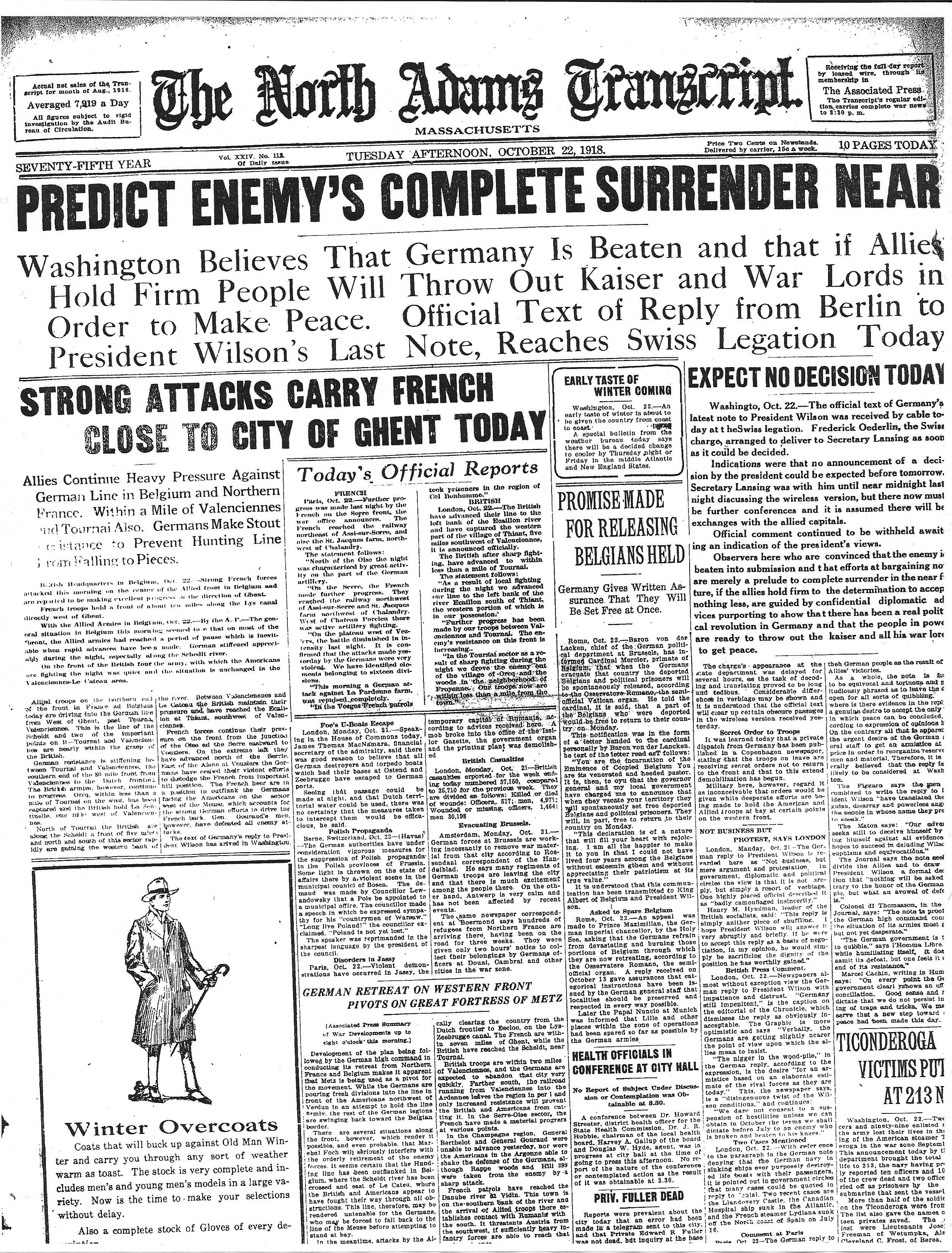 October 22, 1918.