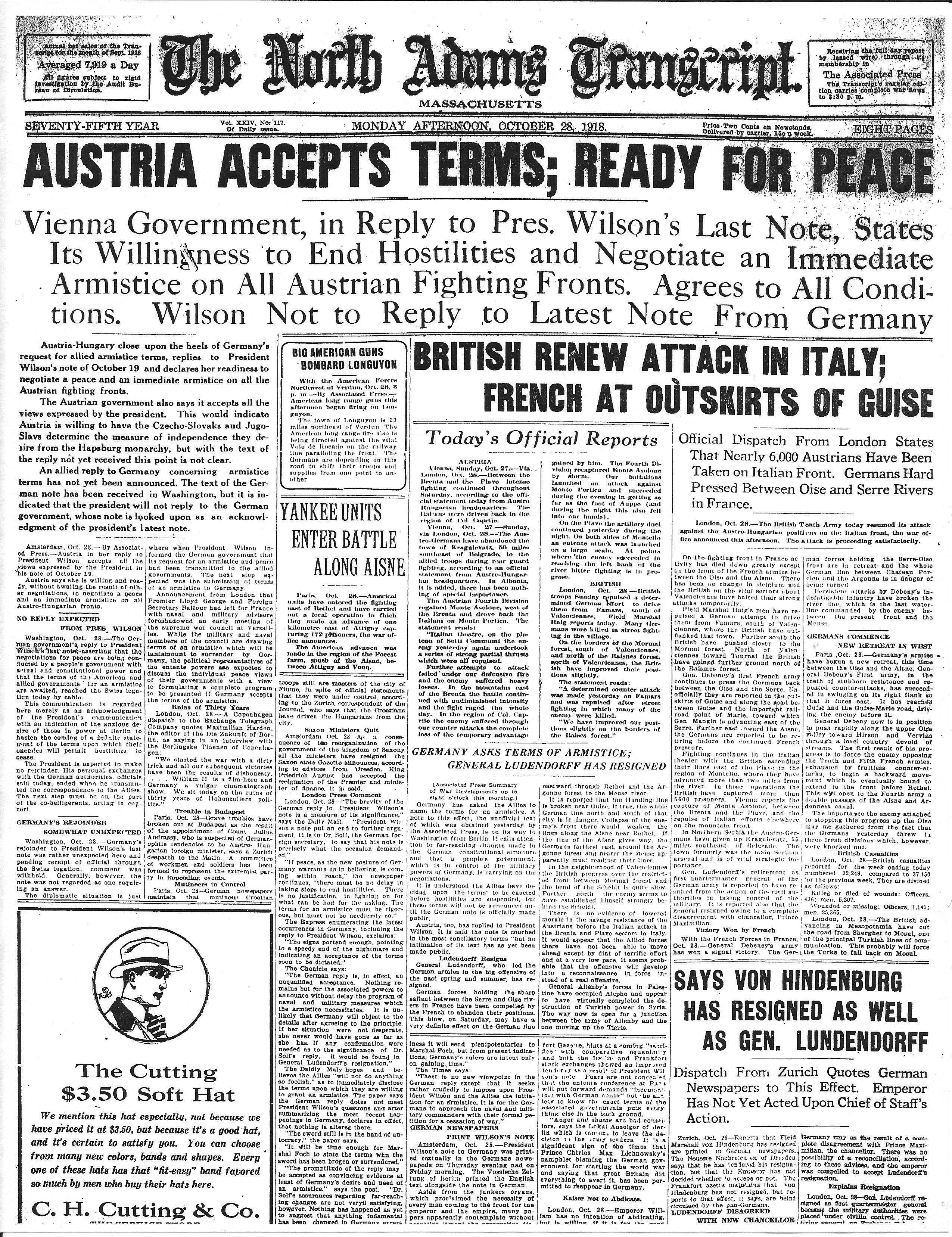 October 28, 1918.